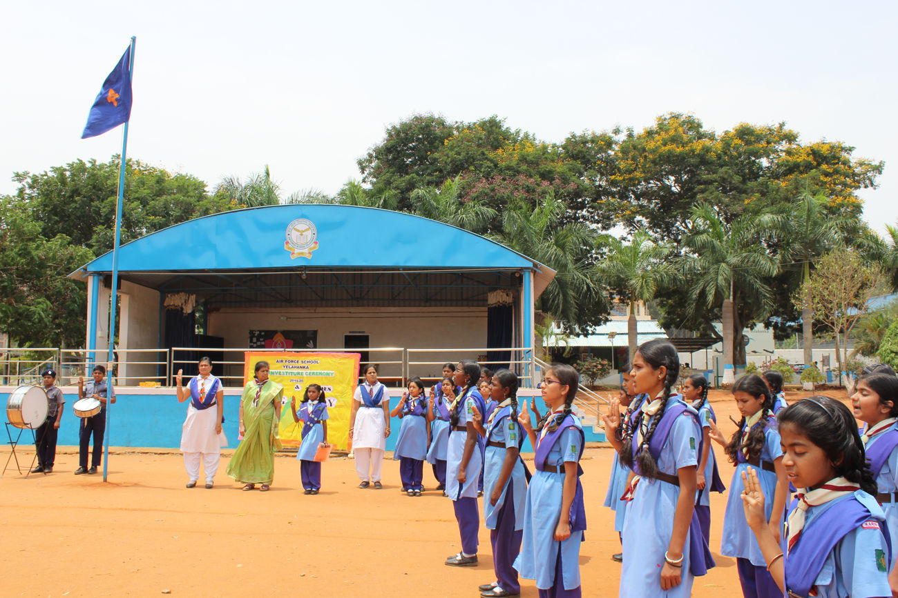 Flag Ceremony - Airforce School Yelahanka