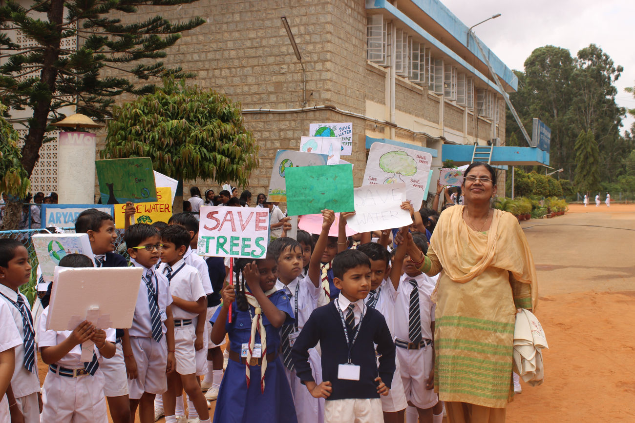 RALLY ON SAVE ENVIRONMENT  - Airforce School Yelahanka